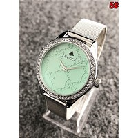GUCCI Popular Ladies Men Stylish Diamond Quartz Movement Watches Wrist Watch 5#