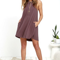 RVCA Sucker Punch 2 Mauve Swing Dress