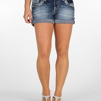 Miss Me Glitz Cuffed Stretch Short