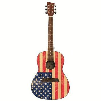 First Act 36 Inch Designer Acoustic Guitar - American Flag