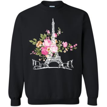 Gucci Paris Flower T-Shirt Gildan Crewneck Pullover Sweatshirt  8 oz.