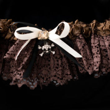 Pirate Handmade Couture Style Fairytale Bridal Garter Custom Made