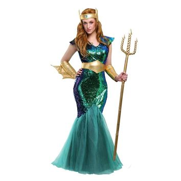 Iridescent Mermaid Sea Siren Women's Costume