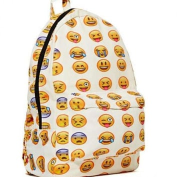 Fashion Lovely Printing 3D Emoji Smiling Face Casual Backpack