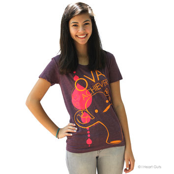 Ova Achiever - Heather Plum - Uterus Shirt