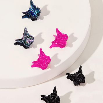 Butterfly Design Hair Clip 6pcs