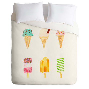 Laura Redburn Ice Cream Selection Duvet Cover