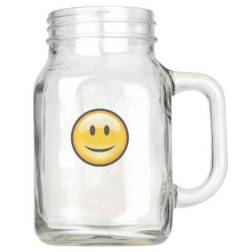 Smiley Face Mason Jar
