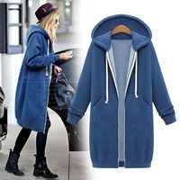 Hoodies Zippers Hats Long Sleeve Jacket [114361892889]