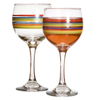 "Bulk ""Mambo"" Striped Wine Glasses, 10 oz. at DollarTree.com"