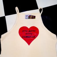 SWEET LORD O'MIGHTY! ITTYBITTYTITTYCOMMITTEE TANK IN CREAM