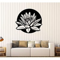 Vinyl Wall Stickers Lotus Floral Art Yoga Studio Meditation Room Decal Unique Gift (238ig)