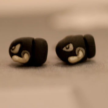 Bullet Earrings by lizglizz on Etsy