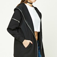 Longline Fleece Hooded Jacket