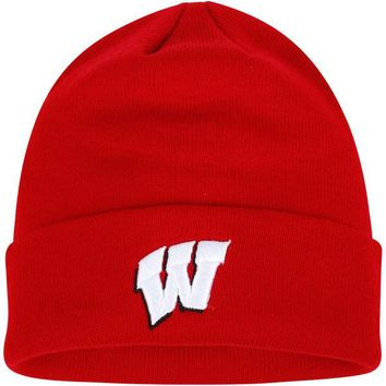 Wisconsin Badgers Top of the World Simple Cuffed Knit Hat