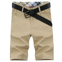 jeansian Men's Summer Causal Multi-pocket Cargo Shorts Pants S369
