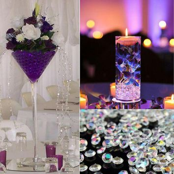 ac VLXC 23+Colors Tiny 10,000 Pcs Pack 2.5mm Acrylic Diamond Scatters Table Confetti Beads Wedding Decoration Party Event Supplies