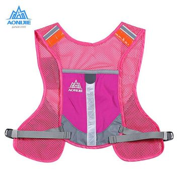 Running Vests Jogging AONIJIE 5L Outdoor Running Backpack Reflective Backpack Hydration Vest Pack For Running Marathon KO_11_1
