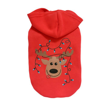 Puppy Dog Costume Red Hoodie Outwear Coat Christmas Pet Clothes [8872000326]
