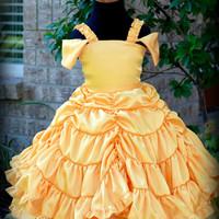 Princess Belle Pageant Party Dress