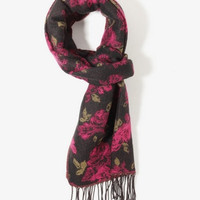 Woven Floral Scarf