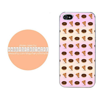 Donuts and Pizza Emoji iPhone 4/4s 5/5s/5c/6/6 plus iPod 4/5 & Galaxy S5 Case