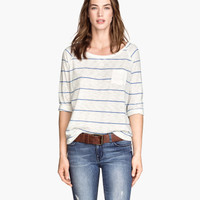 H&M Striped Jersey Top $17.95