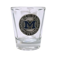 The M Den -RFSJ University of Michigan Optical Pewter Shot Glass