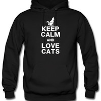 KEEP CALM LOVE CATS cats hoodie