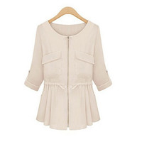 Drawstring Waist Light Jacket