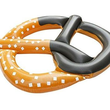 By PoolCentral 51 inch  Jumbo Inflatable Pretzel Island Swimming Pool Novelty Raft Float