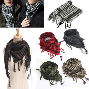 Mayitr 100x100cm Outdoor Hiking Scarves Military Arab Tactical Desert Scarf Army Shemagh With Tassel For Men Women