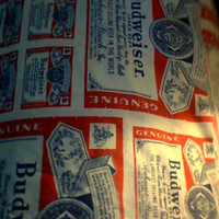 1980's  Budweiser Twin Bed Sheet