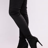 Keyana Thigh High Boot - Black