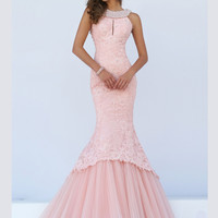 Keyhole Lace Bodice Sherri Hill Formal Prom Gown 50112
