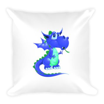 Draco Blue Green Pillow