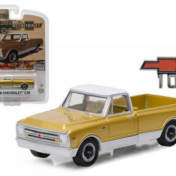 1968 Chevrolet C-10 Anniversary Gold Chevy Trucks 50th Anniversary Collection 1-64 Diecast Model Car by Greenlight