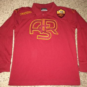 Sale!! Vintage Kappa AS ROMA Soccer Shirt Italy Football Jersey