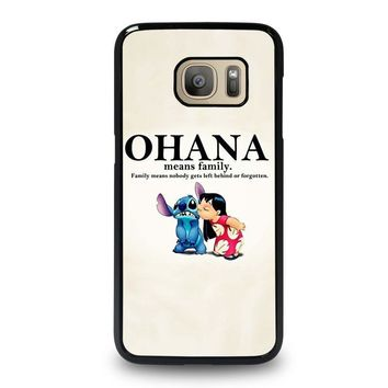 lilo and stitch ohana family disney samsung galaxy s7 case cover  number 1