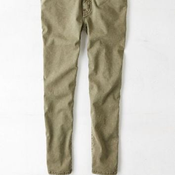 5ebbbb45d7170 AEO Women's Sateen X Jegging Crop (Olive) from American Eagle