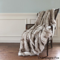 Wild Mannered Luxury Long Hair Faux Fur 58x60 Lap Throw   Overstock.com