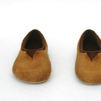 Felted slippers for men Natural brown Chocolate brown Gift for man Women Unisex