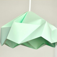 "Origami Paper Lamp Shade / Lantern ""Snowflake"" - MINT"