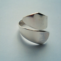 925 Silver Thumb Ring, Sterling Silver Ring, Wraparound Ring, Silver Jewellery,Silver Jewelry, Adjustable Ring