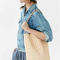 Pine + Boon Leather Dot Tote Bag-