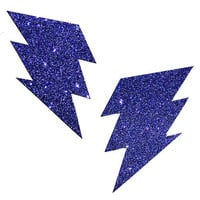 Purple Rain Glitter Bolt Pasties