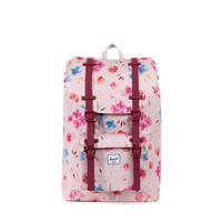Herschel Supply Co. Little America Mid-Volume Backpack Ruby Khaki/Windsor Wine Rubber