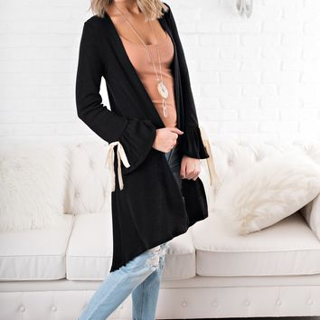 Time After Time Knit Cardigan (Black)