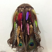 Fashion Boho Hair Accessories Indian Beads Gypsy