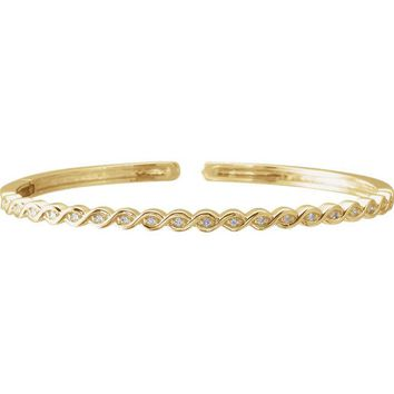 Accented Stackable Bangle Bracelet